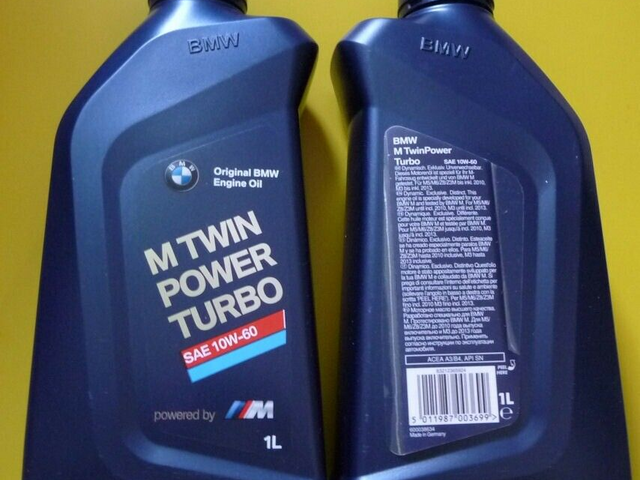 GENUINE 2 x 1 LITRE BMW 10W / 60 FULLY SYNTH ENGINE OIL