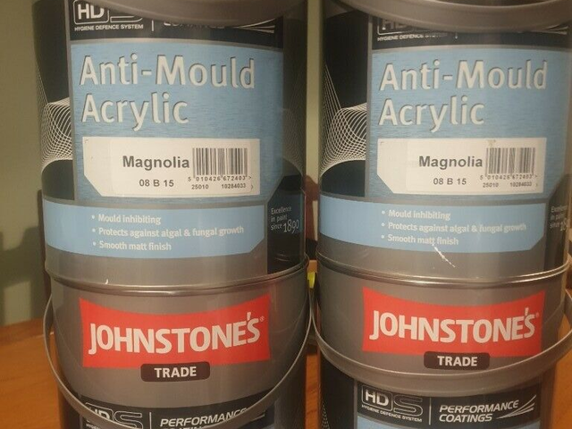 Johnstones trade anti mould acrylic paint for sale