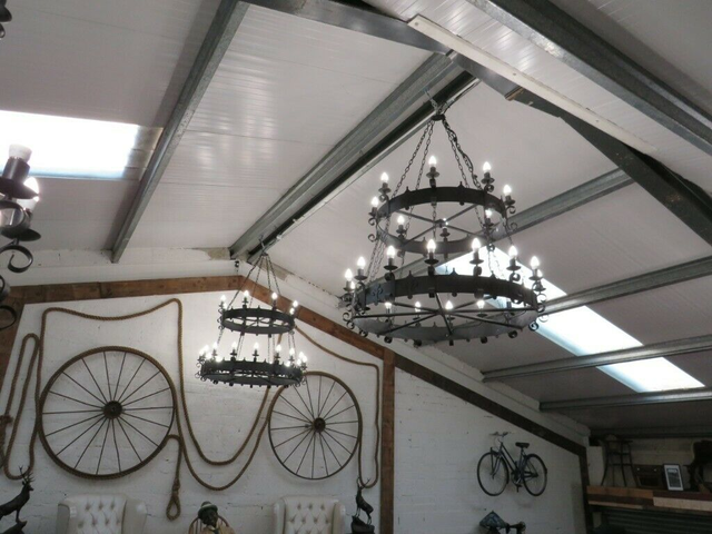 """Large Gothic Style Chandeliers (52"""" Wide)"""