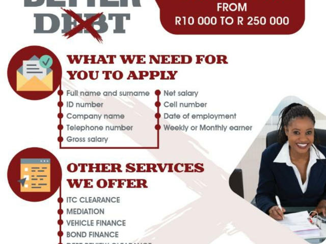 Loans Available upto R250 000