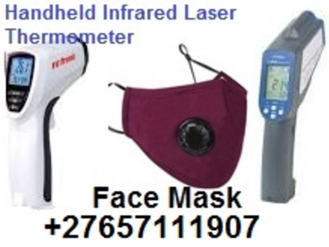 Handheld Infrared Laser Thermometer Face Mask Distance-To-Spot COVID-19 @ +27657111907
